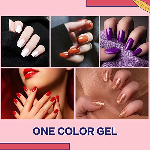 Zeeshy Gel Nail Polish Kit,23 pcs Popular color Gel Polish Set with No Wipe Base and Matte Glossy Top Coat, UV/LED Lamp Soak Off Nail Polish for Nail Art Salon