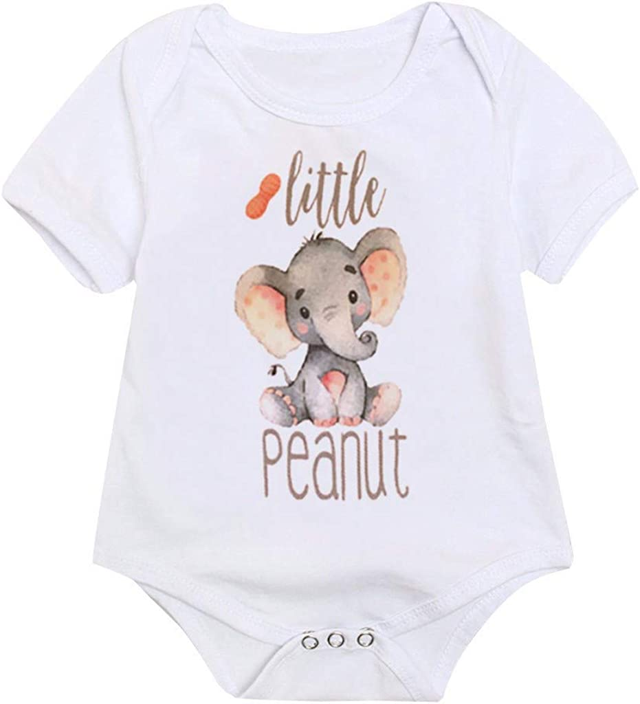 RAINED-Baby Boy//Girl Bodysuit Unisex Organic Baby Jumpsuit Short Sleeve Tops One Piece Outfits