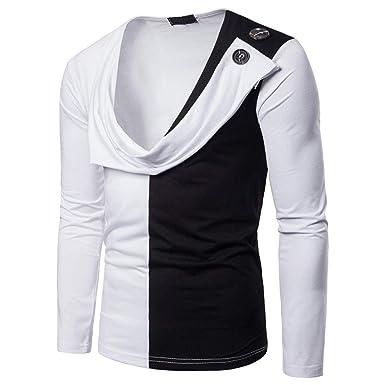 Camisetas Hombre Manga Larga Algodon ❤️AIMEE7 Camisetas Hombre Originales Manga Larga Camisetas Hombre Manga Larga Ajustadas Camisetas Hombre Blancas: ...