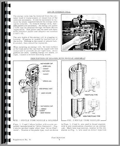 Allis Chalmers 190XT Injection Pump Service Manual -  Jensales