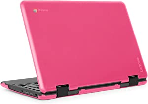 """mCover iPearl Hard Shell Case for 2018 11.6"""" Lenovo 300E / Flex 11 Series 2-in-1 Chromebook Laptop (NOT Fitting Lenovo 300E Windows & N21 / N22 / N23 /100E / 500E Chromebook) (C300E Pink)"""