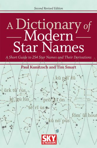 A Dictionary of Modern Star Names: A Short Guide to 254 Star