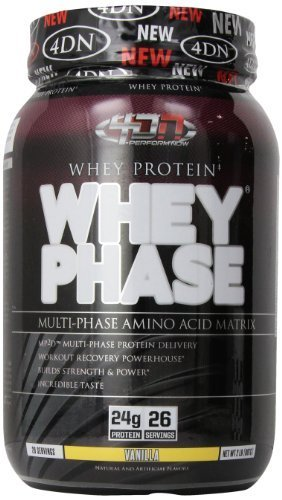 4 Dimention Nutrition Whey Phase Weight Loss Powder, Vanilla, 2 Pound by 4 Dimention Nutrition