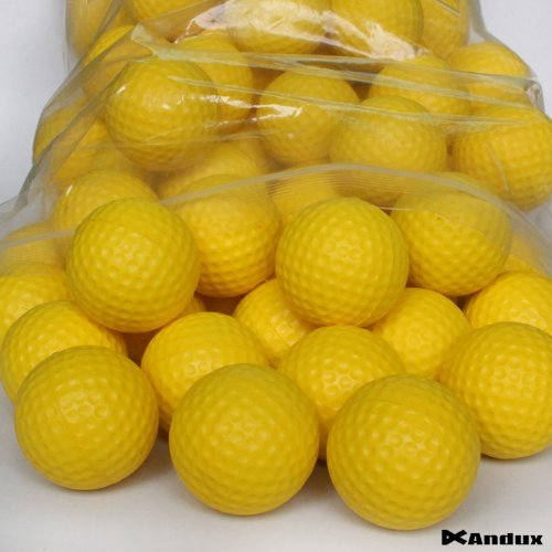 Andux 36 Golf Pu Foam Practice Balls Yellow PU by Andux
