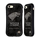 Official HBO Game Of Thrones Stark Dark Distressed Sigils Hybrid Case for Apple iPhone 7