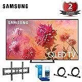Samsung-QN65Q9FN 65' Q9FN Smart 4K Ultra HD QLED TV (2018) (QN65Q9FNAFXZA) with 2 Year Extended Warranty + Flat Wall Mount Kit Bundle & More QN65Q9F QN65Q9 65Q9F 65Q9
