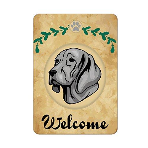 Welcome WEIMARANER DOG Metal Sign - 8 In x 12 In