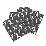 Roostery Italian Greyhound Linen Cotton Dinner Napkins Italian Greyhound by Lobitos Set of 4 Cotton Dinner Napkins made by