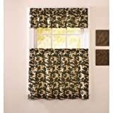 Cheap CHF & You Camo Tiers & Valance Curtain Panel Set
