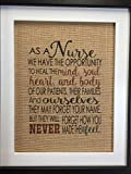 "As a Nurse Nurses Inspirational Wall Art 8.5"" x 11"" Unframed Burlap Tapestry Features Christian House Blessing for Your Home Decor"