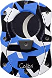 Colibri Cut Camo Double Guillotine Blue Cigar Cutter