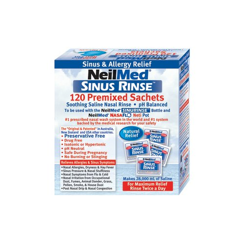 Neilmed Sinus Rinse Packets - NeilMed Sinus Rinse All Natural Relief Premixed Refill Packets 100 Each