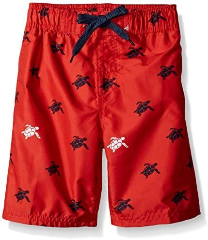 Toddler Boys' Terrapin Turtle Quick Dry Beach Board Shorts Swim Trunk Red 2T [並行輸入品]