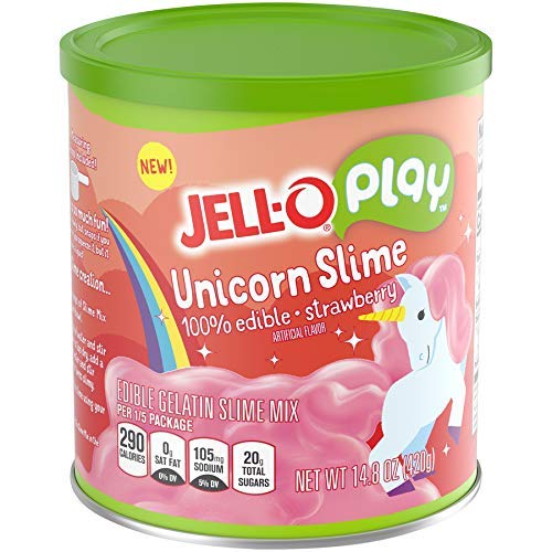 JELLO Strawberry Unicorn Slime (14.8oz Cans, Pack of 2) by Jell-O Play (Image #3)
