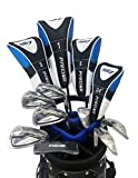 S7 Men's Limited Edition Blue Complete Full Golf Club Set (Right Hand) ; Driver, #3 & 5 Wood, Hybrid, # 5 thru PW Irons, Sand Wedge, Putter, Deluxe Stand Bag and 4 Matching Head Covers.