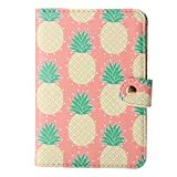TNK - Chic Pineapple Travel Leather Passport Holder Card Case Protector Cover Wallet (Pineapple)