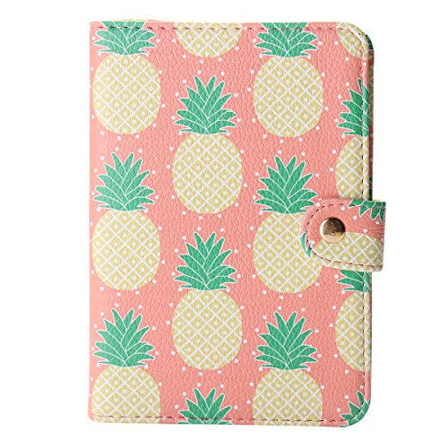TNK - Chic Pineapple Travel Leather Passport Holder Card Case Protector Cover Wallet (Pineapple) by TNK