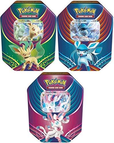 Pokemon 2018 Evolution Celebration Set of All 3 Booster Tin Boxes!
