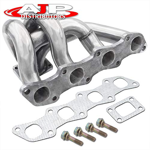 AJP Distributors Performance Ceramic Coating Turbocharger Turbo Racing Bottom Mount Exhaust Manifold Upgrade For 240SX S13/S14 KA24DE 1989 1990 1991 1992 1993 1994 1995 1996 1997 1998