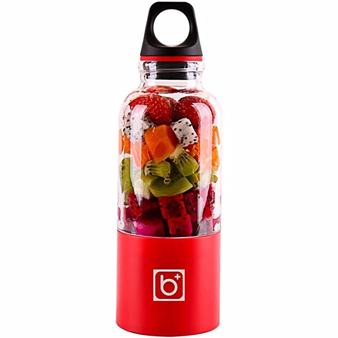 niceeshop Portable Electric Juicer Cup, USB Rechargeable Electric Automatic Vegetables Fruit Juice Maker Cup Blender Mixer Bottle for Travelling Outdoors, 500ml
