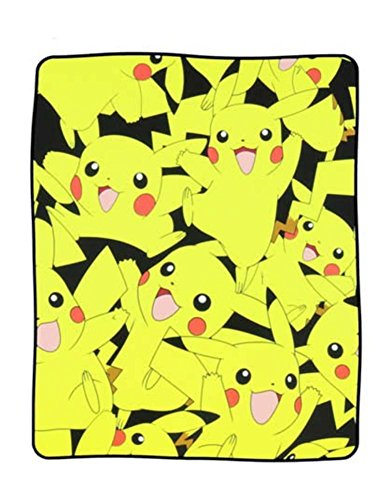 "Price comparison product image bioWorld Pokémon Pikachu All Over Print Fleece Throw Blanket, 48"" x 60"""