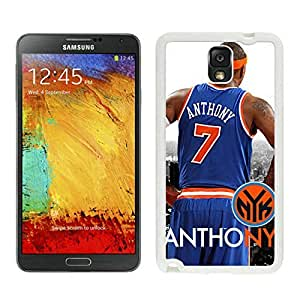 New Custom Design Cover Case For Samsung Galaxy Note 3 N900A N900V N900P N900T New York Knicks Anthony 1 White Phone Case
