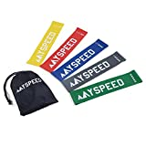 Myspeed Resistance Loop Exercise Bands, Best for Working Out, Crossfit, Home Fitness, Physical Therapy. Used for Shaping Muscles, Arms, Legs and Back with Carry Bag. (Set of 5)