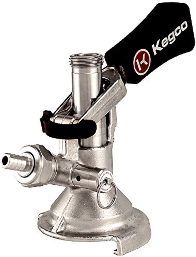 Kegco KC KT1104W-Keg Coupler German Slider A System Ergonomic Lever Handle, Stainless Steel Probe