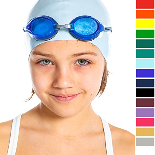 Good Quality Swim Cap Silicone – Keeps Hair Dry Easy Fit – Popular for Kids, Adults