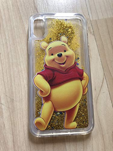 (iPhone XS Max,Winnie The Pooh iPhone XS Max Sparkle Liquid Glitter Quicksand Case - Ship From NY)