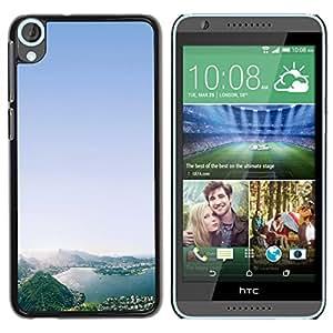 Graphic4You Rio De Janeiro Brazil Postcard Design Thin Slim Rigid Hard Case Cover for HTC Desire 820