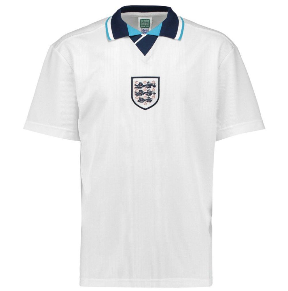 Score Draw England Euro 1996 Soccer Home Football Soccer 1996 T-Shirt Trikot (Darren Anderton 11) 003f8b