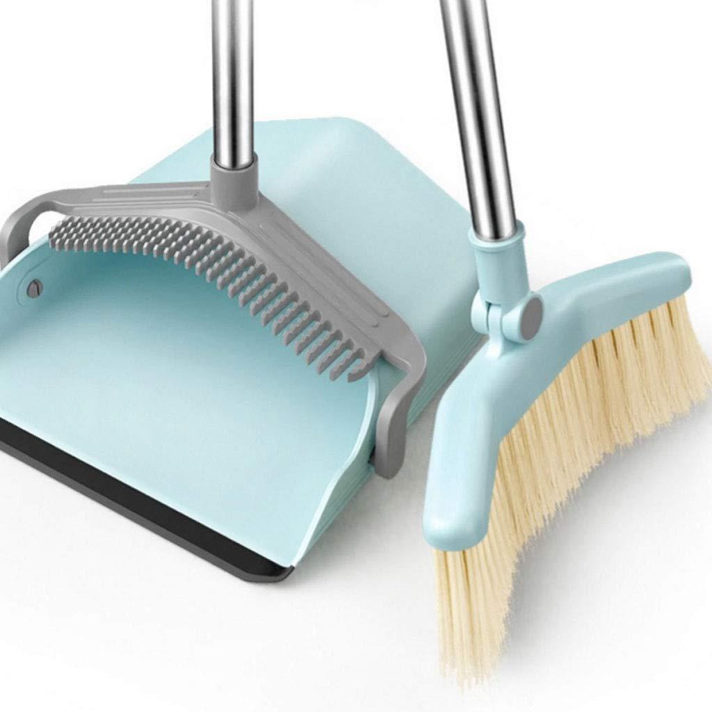 ちりとりとり ほうき/ちりとり ほうきコンボ 家庭用 床を掃除 大容量 カーブしたほうき 中央ダスト用 B07MRJ1Z4N