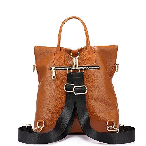 Boueuse casual cuir college Elégant Sacs véritable en Cartable à sac Couleur Noir main à dos grande femme Mode femmes PIIFUq