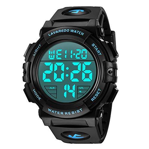 Relojes, Reloj Digital para Hombres, 50M Cronógrafo Impermeable para Exteriores Relojes Deportivos para Hombres con…