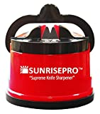 SunrisePro Knife Sharpener, USA patented, Original, Red