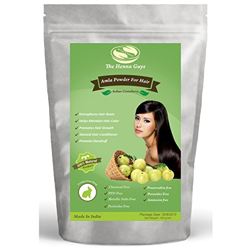 100 Grams Amla Powder / Indian Gooseberry - 100% Pure & Natural, use for food, hair conditioning & hair coloring mixture