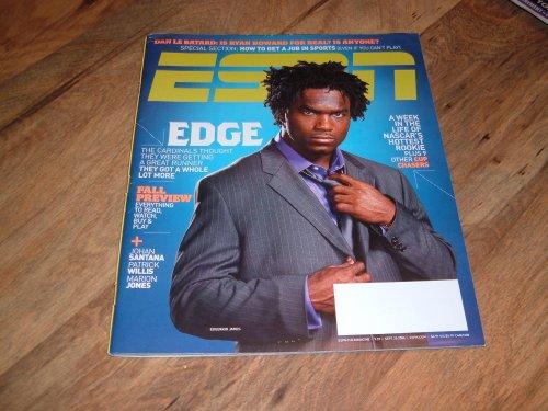 Espn magazine, September 25, 2006-Edgerrin James-Arizona Cardinals.