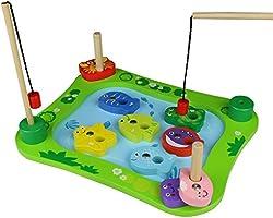 Hölzernes Magnetisches Fischen-Spiel Pädagogischen Spielwaren für Kinder 3 4 5 Jahre Alt
