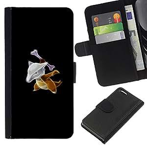 LECELL--Cuero de la tarjeta la carpeta del tirón Smartphone Slots Protección Holder For Apple Iphone 5C -- Marowak P0kemon --