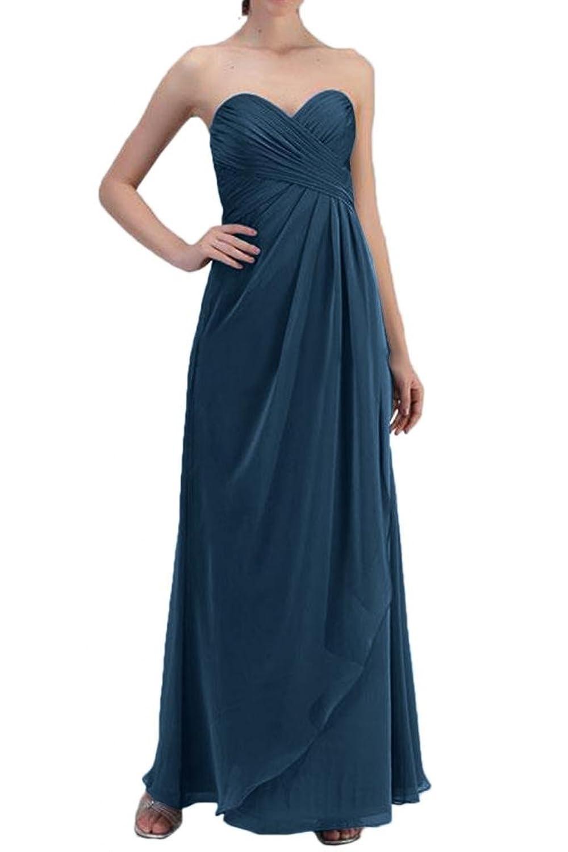 Gorgeous Bride Chiffon Simple Long Dress Evening Party Dress Sweetheart