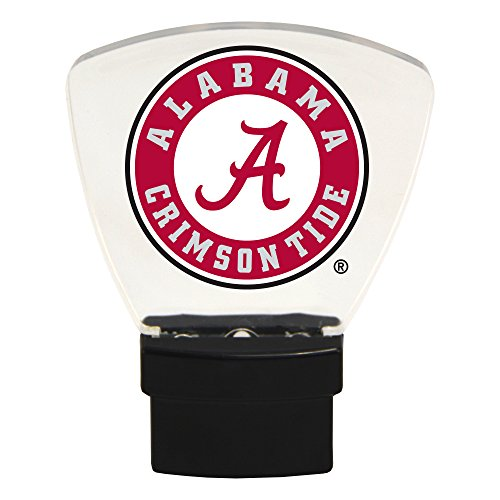 Authentic Street Signs NCAA Officially Licensed-LED Night Light-Super Energy Efficient-Prime Power Saving 0.5 watt, Plug in-Great Sports Fan Gift for Adults-Babies-Kids Room (Alabama Crimson -