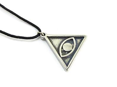 Amazon avert evil eye to ward off jealousy amulet pewter avert evil eye to ward off jealousy amulet pewter pendant with cord necklace aloadofball Choice Image