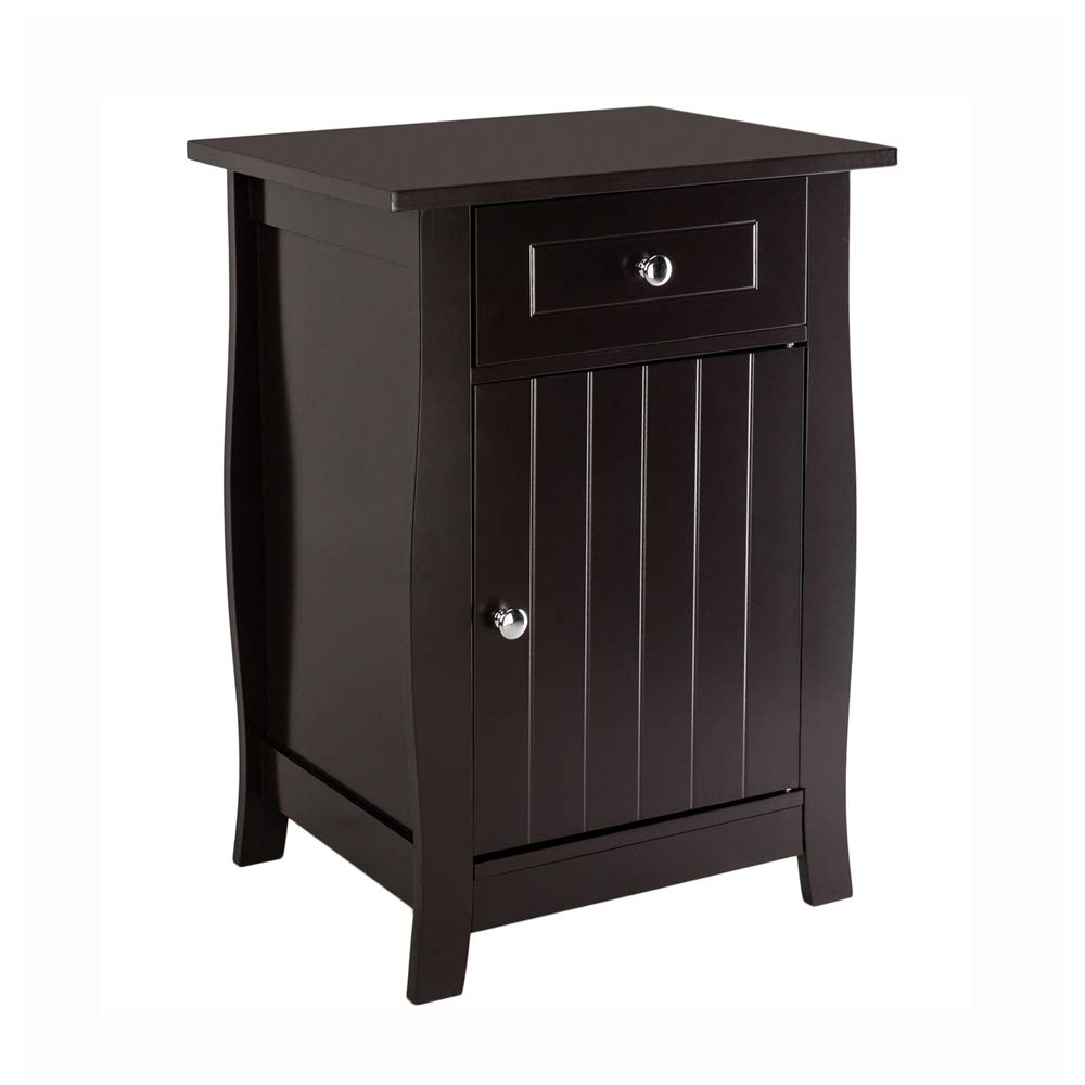 Amazon Com Bonnlo Bedside Nightstand 24 5 Inch Tall End Tables With