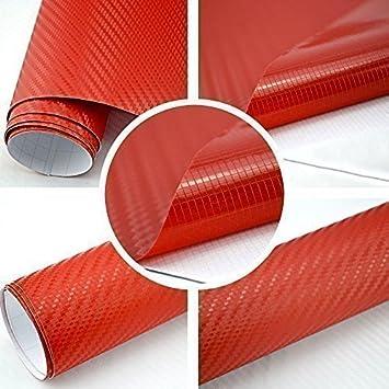 TipTopCarbon 6,58/€//m/² 3D Carbon Folie gr/ün BLASENFREI 0,3m x 1,52m mit Luftkan/äle Autofolie selbstklebend