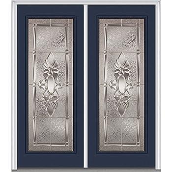 Exterior Front Entry Double House Fiberglass Door M800b 30 X 80x2