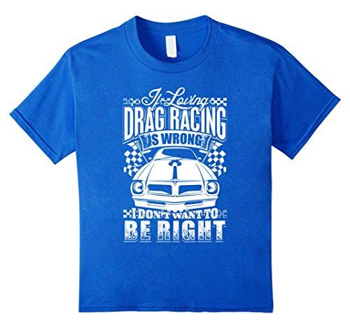Kids Loving Drag Racing T Shirt 8 Royal Blue