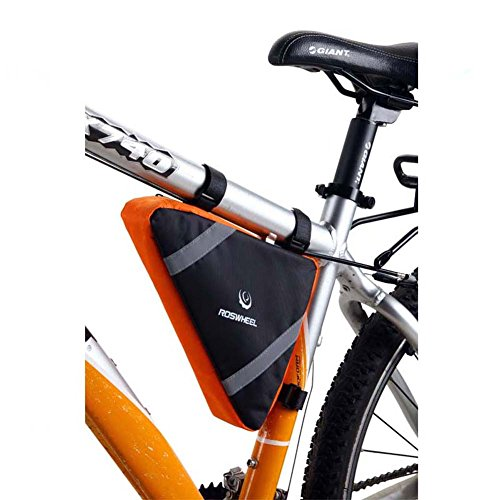 Neuer ROSWHEEL KreislaufFahrradtasche Rahmentasche Oberrohrtasche Handytasche Schlauch-Dreieck-Beutel schnellauslösend PVC Beutel