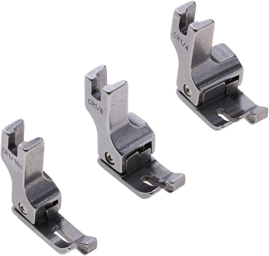 Baoblaze 3X Prensatelas de Compensación de Guía de Borde Derecho para Máquinas de Coser Industriales