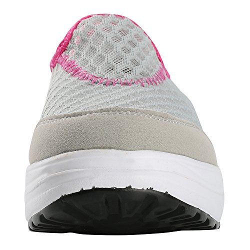 Alexis Leroy Plataforma Zapatillas sin cordones de deporte mujer Gris